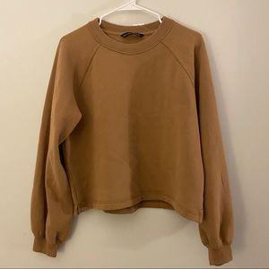 Puff Sleeve Crewneck Sweatshirt